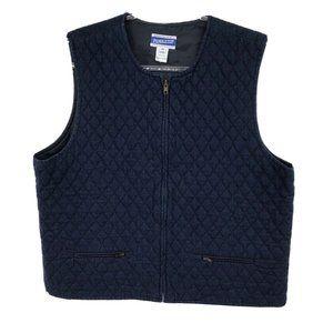 Pendleton Denim Quilted Vest Womens Size 14 Zipper